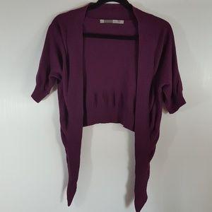 Athleta   Purple Short Sleeve Cashmere Cardigan XS
